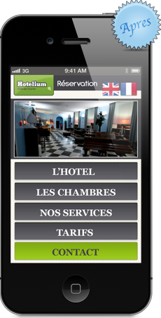 Site compatible iphone, hôtel