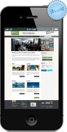 Site mobile gîte, chambre d'hôtes, restaurant